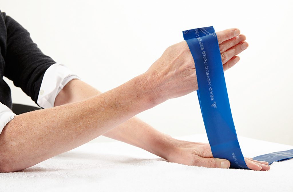 Theraband, hand therapy exercises, tendinopathy
