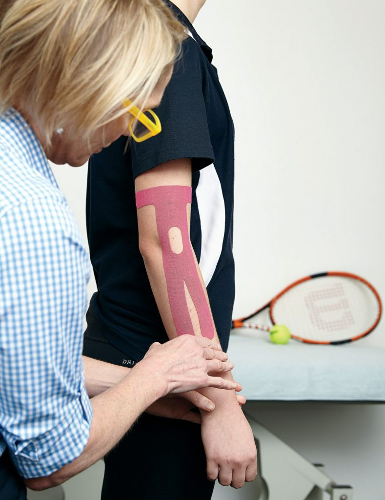 Hand Conditions, Sports Injuries, Tennis Elbow, Kinesis tape, lateral epiicondylosis