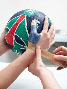 Sport splint, sport injuries, netball