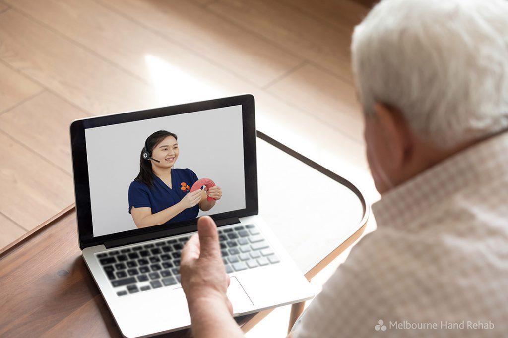 Melbourne Hand Rehab Telehealth Service Patient View