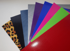 Display of various coloured thermoplastic sheets used to make hand therapy splints