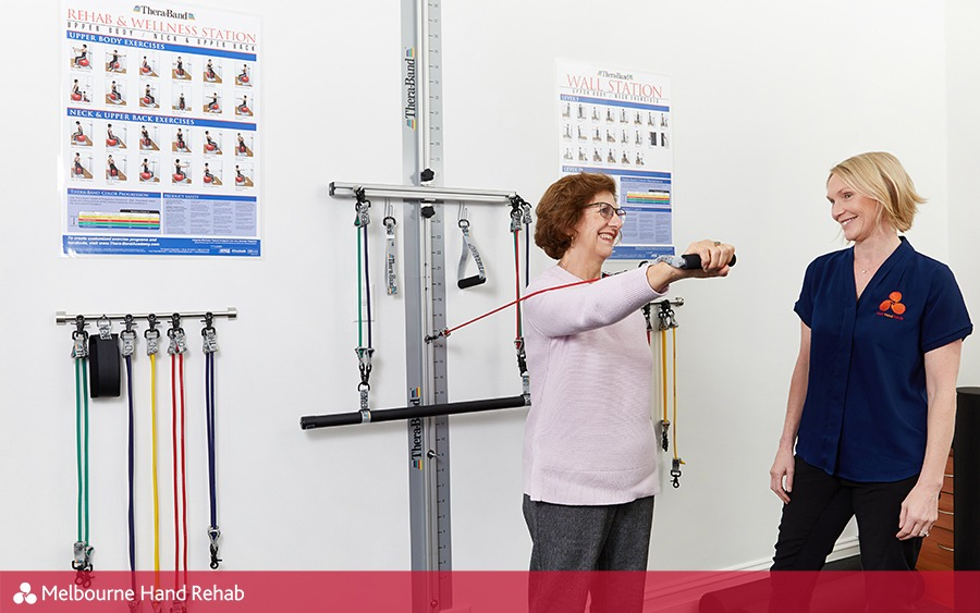 Melbourne Hand Rehab has in-house gyms at their Richmond, Werribee, North Essendon and Mill Park clinics.