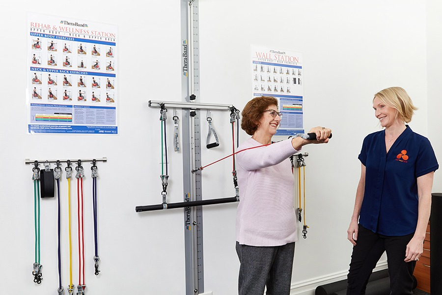 Melbourne Hand Rehab in-house gym for strengthening programs