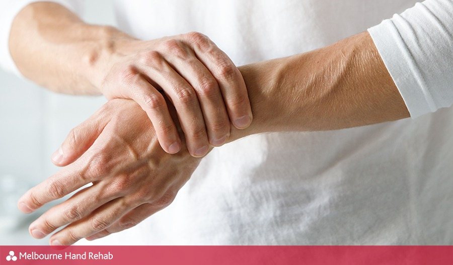 Person with painful wrist