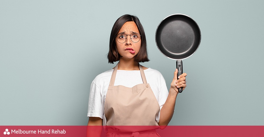 One handed cooking tips when wearing a splint or brace