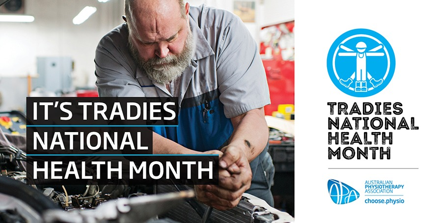 National Tradies Month Campaign. Common tradies injuries and how to avoid them