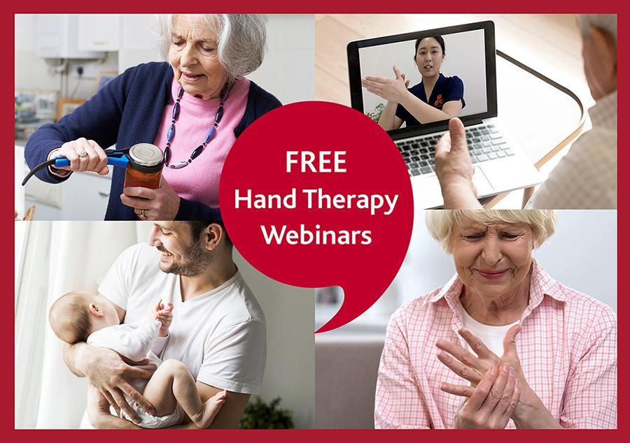 FREE Hand Therapy Webinars graphic