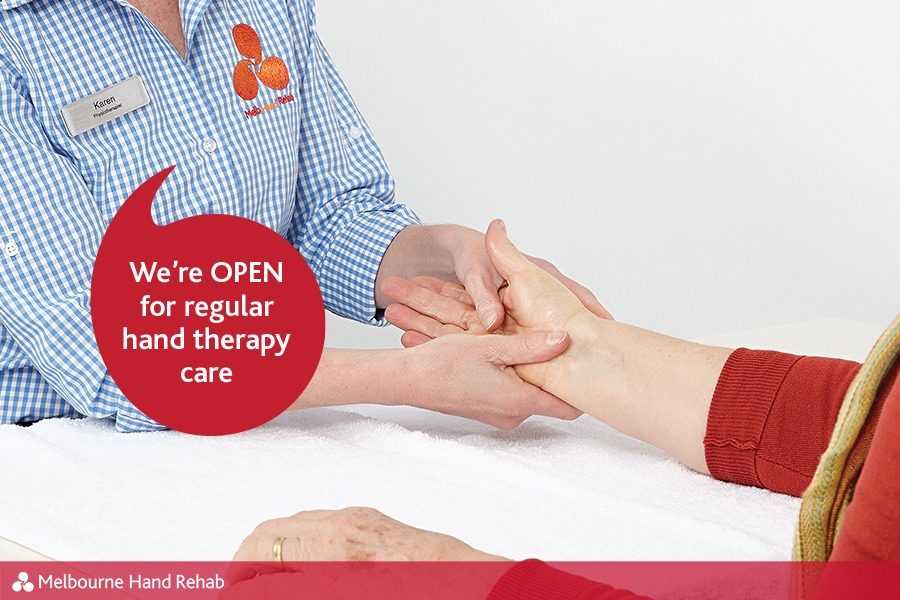 Melbourne Hand Rehab, Open for Hand Therapy Care